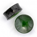 Concave Green Obsidian Plugs