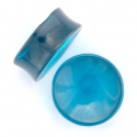 Concave Blue Obsidian Plugs