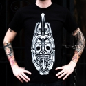 Kolo T-Shirt - White on Black