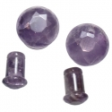 Faceted Amethyst Single Flare Plugs