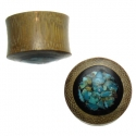 Bamboo with Wood and Turquoise Inlay