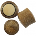 Bamboo Plugs with Mastodon and Coconut Wood Inlays