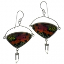 Butterfly Wing Silver Earrings #11