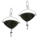 Butterfly Wing Silver Earrings #6