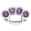 Gold Brass Knuckles with Gems End