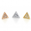 Gold Micro Pave Triangle End