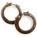 Coconut Shell Hoop Stirrups