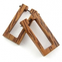 Coconut Wood Rectangle Stirrups