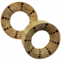 Crocodile Wood Eyelets with Burn Dots