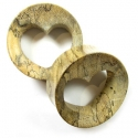 Crocodile Wood Heart Eyelets