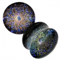 Glass Galaxy Plugs