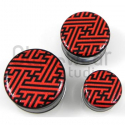 Glass Sayagata Image Plugs