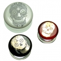 Glass Sugar Skull Plugs