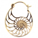 Gold Mini Nautilus Hoops
