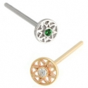 Gold Paloma Flower Nostril Screw