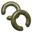 Green Breciated Jasper Hoops