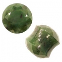 Faceted Green Nephrite Jade Plugs