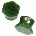 Green Nephrite Jade Hexagon Plugs