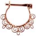 Rose Gold Dance Septum Clicker