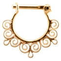Gold Dance Septum Clicker