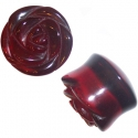 Red Obsidian Rose Plugs