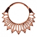 Rose Gold Starr Septum Clicker