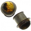 Silver and Amber Plugs