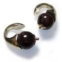 White Brass Atlas Weights with Red Garnet