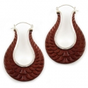 Bloodwood and Silver Wing Hoops
