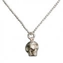 Silver Tiny Skull Necklace