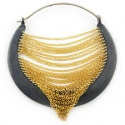 Silver and Yellow Gold Mintaka Hoops