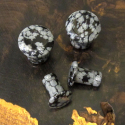 Single Flare Snowflake Obsidian