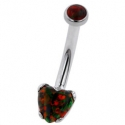 Surgical Steel Heart Cut Navel Curve