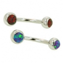 Surgical Steel Jeweled Navel Curve