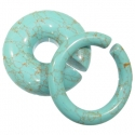 Stabalized Turquoise Hoops