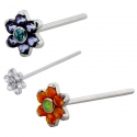 Surgical Steel Flower Nostril Screw
