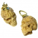 Brass and Tagua Nut Skulls