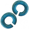 Howlite Turquoise Oval Hoops