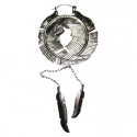 Silver Plated Feather Hoops