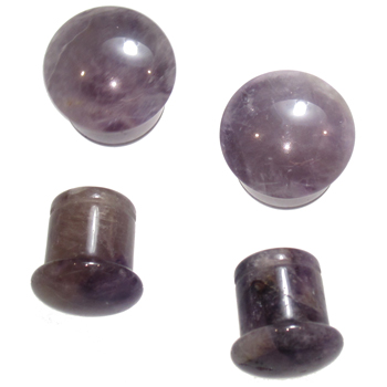 Amethyst Single Flare Plugs
