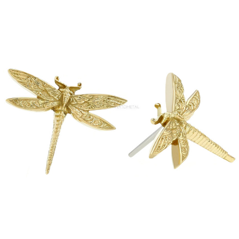 Gold Threadless Dragonfly