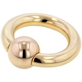 18k Gold Captive Bead Ring