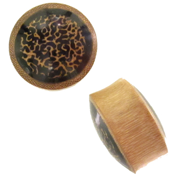 Bamboo Plugs with Oosik and Resin Inlays