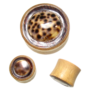 Bamboo Plugs with Shell Inlays
