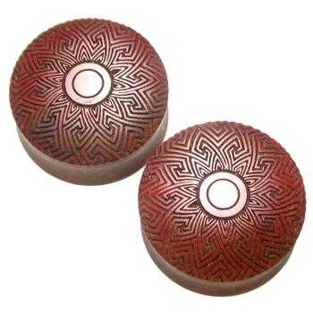 Pink Ivory Sayagata Eye Plugs
