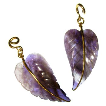 Brass and Flourite Leaves