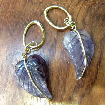 Brass Small Flourite Leaves