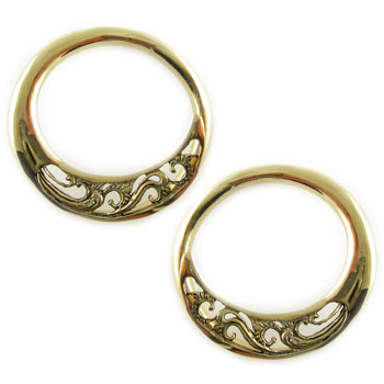 Brass Collete Hoops