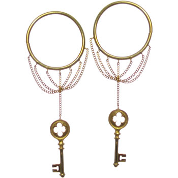 Gold Plated Key Hoops