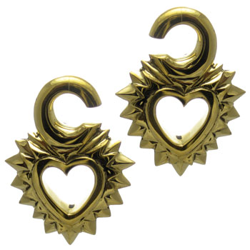 Brass Open Heart Weights
